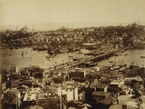 Aerial View of a Bridge over the Bosporus in Istanbul Reproduction photographique