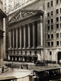 Exterior View of New York Stock Exchange on Wall Street Photographic Print