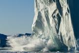 Calving Iceberg in Disko Bay in Greenland Photographic Print