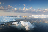 Melting Sea Ice at Sunset, Hudson Bay, Canada Photographic Print by Paul Souders