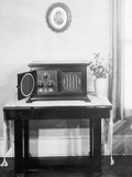 Radiola Iv Radio in a Home Photographic Print
