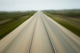 Railroad Tracks, Churchill, Manitoba, Canada Photographic Print by Paul Souders