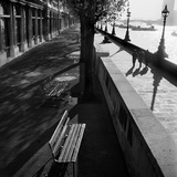 Albert Embankment, London, View Towards Lambeth Bridge and the Millbank Tower Photographic Print by John Gay