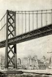 Drawing of Oakland Bridge Photographic Print
