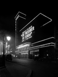 Odeon Cinema, Leicester Square, London, a View of the Cinema at Night Photographic Print by John Maltby