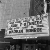 Marilyn Monroe and John F, Kennedy Photographic Print