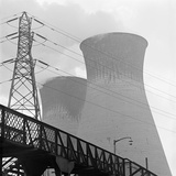 View Towards Two Cooling Towers at a Power Station Photographic Print by John Gay