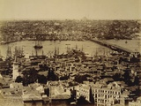 Aerial View of a Bridge over the Bosporus in Istanbul Photographic Print