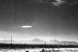 UFO Flying over New Mexico Photographic Print