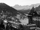 Birds-Eye View of St. Moritz Photographic Print