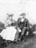 Couple on Hammock Photographic Print