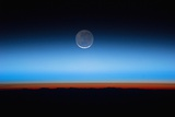 Crescent Moon Photographed from Orbit Aboard the International Space Station Photographic Print