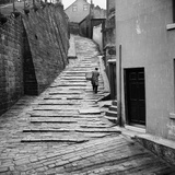 The Church Stairs, Whitby, North Yorkshire, a Baker Makes Deliveries Photographic Print by Hallam Ashley