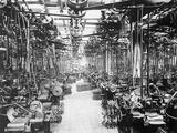 Crankshaft Grinding Department at Ford Motor Company Fotografisk tryk