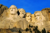 Morning Light on Mount Rushmore Memorial Photographic Print