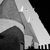 Close-Up of Three Oast Houses, Viewed from under a Roof or Awning Photographic Print by John Gay