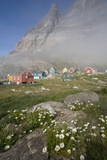 Aappitttoq Village and Mountain Photographic Print