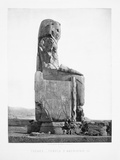 Detail Showing the Pharoah Amenhotep Iii Enthroned from the Colossi of Memnon at Luxor Photographic Print