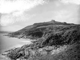 Pendennis Castle, Falmouth, Cornwall, Exterior General View of the Bay Photographic Print by Henry Taunt