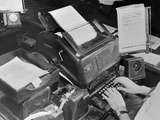 Upi Teletype Machine Photographic Print