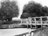 Old Weir, Hurley, Berkshire, an Old Wooden Weir on the River Thames Photographic Print by Henry Taunt