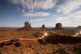 Night View of Monument Valley under the Light of a Full Moon Photographic Print