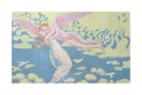 Cupid Carries Psyche to the Heavens, 1909 Giclee Print by Maurice Denis