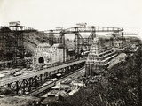 View of the Panama Canal under Construction Photographic Print