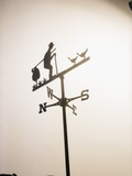Weather Vane with Old Man and Cane Photographic Print