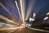 Traffic Light Trails in Shanghai Photographic Print