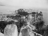 Top View of Monaco Rock Photographic Print