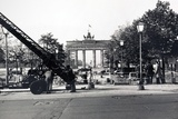 The Berlin Wall, under Construction in August 1961 Photographic Print