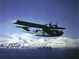 Us Navy Pby Catalina Bomber in Flight Photographic Print