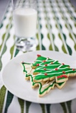 Christmas Cookies and Milk Photographic Print