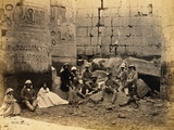 Tourists at Karnak Photographic Print
