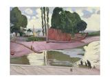 Landerneau River, 1924 Lámina giclée por Maurice Denis