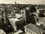 View of Jerusalem Showing Church of Holy Sepulchre in Foreground Photographic Print