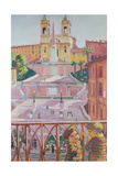 Spanish Steps and the Trinita dei Monti Church, Rome, 1928 Reproduction procédé giclée par Maurice Denis