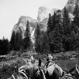Tourist Photo from Horse-Drawn Wagon in Yosemite Valley, Ca. 1900 Photographic Print