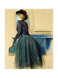 Portrait of a Woman by a Piano, 1883 Reproduction procédé giclée par Jacques-emile Blanche