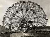 View of Wonder Wheel Ride at Coney Island Photographic Print