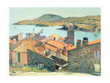 Red Roofs at Collioure Giclee Print by Henri Martin