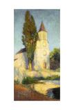 Labastide du Vert Church, Eglise de Labastide du Vert Reproduction procédé giclée par Henri Martin