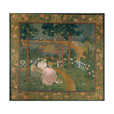 Three Young Princesses Or, in the Bois D'Amour, Design for a Tapesty, C. 1898 Reproduction procédé giclée par Maurice Denis