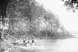 People Riding in a Rowboat Photographic Print
