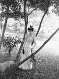 Woman Standing Among Trees Photographic Print