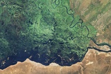 The Confluence of the Zambezi and Chobe Rivers Photographic Print