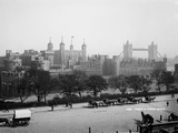Tower of London, Stepney, London, View across a Street and Towards the Tower of London Photographic Print
