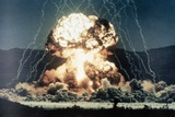 Nuclear Explosion Met in Nevada Desert Photographic Print