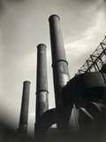 Smoke Stacks of Factory Photographic Print